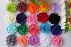 Wholesale x20 DIY Shabby Chiffon Flowers Embelliahment Craft DIY Headbands Clips
