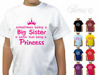 BEING A BIG SISTER BETTER THAN BEING A PRINCESS GIRLS T-SHIRT TSHIRT CHILDRENS