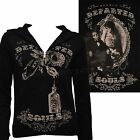Se7en Deadly Dearly Departed Womens Hoodie Gothic Punk Victorian Skull Horror