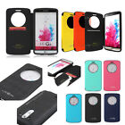 Shockproof Quick Window view Flip Wallet case cover magnet lock for LG G3/G3 S