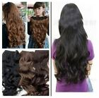 NEW Fashion beauty Full Head Clip Curly/Wavy Women Synthetic Hair Extension