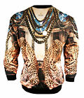 Temple of Gods Crewneck Sweatshirt Floral Sublimated Hoodie Urban Wear $69.99