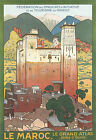 Vintage French Morocco Travel Ad print poster-4 large sizes available