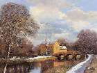 Clive Madgwick WINTER WATER landscape print, PREMIUM QUALITY, various sizes new