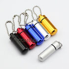 Outdoor Airtight Watertight Aluminum Pill Container Bottle Drug Holder Keychain