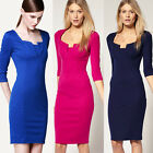 2014 New Elegant Women OL Fitted Bodycon Rockabilly Party Career Office Dress I