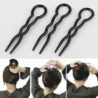 3Pcs Fashion Chic Women Handmade Black Hair Jewelry Fork Pick Pin Hair Maker