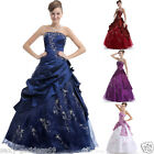 New Woman's Long Stock Evening Formal Prom Dress Ball Gown Size 6 8 10 12 14 16