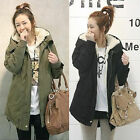Fashion Women's Thicken Fleece Warm Winter Coat Hood Parka Overcoat Long Jacket
