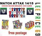 MATCH ATTAX 14/15 CHOOSE FROM ALL 30 RECORD BREAKER OR 20 DUO CARDS