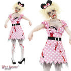 LADIES ADULT ZOMBIE RODENT MOUSE HALLOWEEN FANCY DRESS