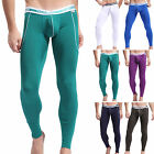 Solid Men Bamboo Fiber Long Johns Winter Pants Thermal Pants Underwear Nightwear