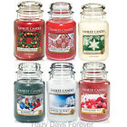 YANKEE CANDLE Christmas LARGE JAR Variety of Xmas Fragrances BUY 2 SAVE £2
