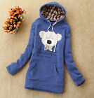 Fashion Stylish Bear Pattern Lovely Hooded Pockets Hoodies Sweat 6 colors 4795