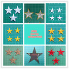Multi-color & Size Star Embroidered Iron On /Sew On Applique Patches /Badge
