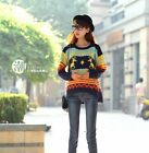 Ladies Womens Jumper Novelty Christmas Xmas Knit knitted Reindeer Retro Sweater
