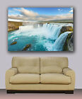 "Beautiful waterfall giclee  Selfoss in IceLand Huge canvas print. 30""x40"""