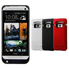 4200mAh Power Bank Pack External Backup Battery Charger Flip Case For HTC One M7