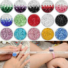 1x Chunk Snap Charms Full Rhinestone Buttons Fit Punk Bracelet Pop Gift 15 Color