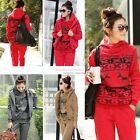 NWT Fashion HOT Ladies Sports Hoodies Coat+Vest+Pants 3pcs Suit Tracksuit
