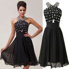 STOCK Sequins XMAS Short Bridesmaid Cocktail Party Evening Prom Formal Dress NEW