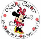 MINNIE MOUSE IN RED DRESS - Round Return Address Labels