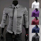 TOP DESIGN  SHIRTS Mens Formal/Casual Dress Shirts SLIM FIT Long Sleeve Office