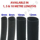 HEAT RESISTANT GLASS FIBRE WIRE SLEEVING 6mm 8mm 10mm 12mm 1M 5M & 10M LENGTHS