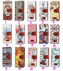 Retro European Printed Leather Wallet ID Card Holder Flip Stand Case Cover XW1