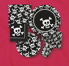 SKULLS PARTY ITEMS (Pirates/Halloween) Birthday Tableware & Decorations