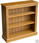 Solid Oak Bookcase, 3ft x 3ft Adjustable Display Hand-Crafted Shelving Unit