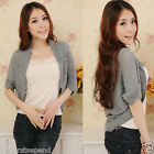Korea Women Knitwear Knit Tops Openwork Knitting Cardigan Outerwear Sweater Cape