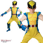 FANCY DRESS COSTUME ~ BOYS MARVEL DC X-MEN DELUXE WOLVERINE CHILD AGE 3-8