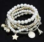 Lady's Eiffel Tower Pearl Bracelet Multilayer Bracelet Jewelry Nice Gift, JW2