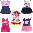 NEW Girl Baby Peppa Pig Top T-Shirt Kids Summer Tutu Skirt Dress Clothing SZ 1-6