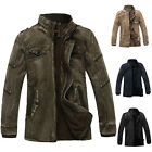 Retro WINTER JACKET Men Military Coats Slim Fit Outwear Parka Stand Collar CHEAP