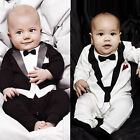 Baby Cotton Gentleman Kid Boy Romper Jumpsuit Clothes Outfit 3-24M Sale Star