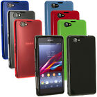 Glossy TPU Skin Case Cover for Sony Xperia Z1 Compact D5503 + Screen Proctector