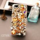 HOT TOP Luxury champagne gem crystal skins Case cover for iPhone6 iphone6 plus