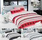 """Snowflake"" Thermal Brushed Cotton, Flannelette Duvet Quilt Cover Bedding Set"
