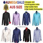 Men's Slim Fit Dress Shirt High Quality Cotton Casual Plaid Shirt M-XXL AUS Size