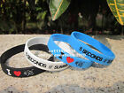 5 SECONDS OF SUMMER I Love 5SoS Skinny Silicone Wristband Bracelet