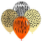 10/20 x Sempertex Safari Animal Print Assorted Latex Ballloons for Party Display