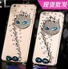 Crystal rhinestone cat face skins Case cover for iPhone6 IPHONE6 plus