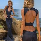 Sexy Women Backless Sleeveless Slim Bodycon Maxi Dress Party Cocktail Evening ES