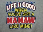 Life Good w/ Mamaw ! Child's Tee Awesome Cute Infant Toddler Baby Youth ...