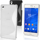 S Line TPU Gel Case for Sony Xperia Z3 D6603 D6633 Skin Cover + Screen Protector