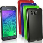 Glossy TPU Gel Skin Case Cover for Samsung Galaxy Alpha SM-G850 + Screen Prot