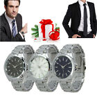 Simple Elegant Steel Men's Quartz Analog WristWatch Stainless Watch 3 Color