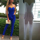 Sexy Woman Party Bra Neck Casual Cocktail Clubwear Jumpsuit Haram Pant Playsuit